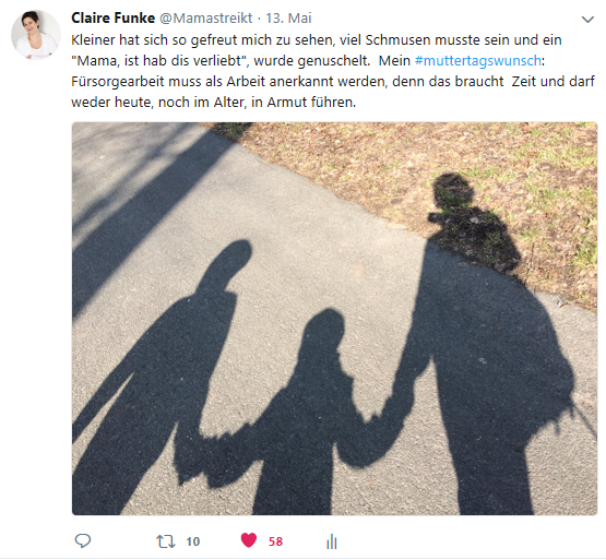Muttertagswunsch auf Twitter