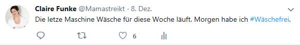 Hashtag Wäschefrei Twitter